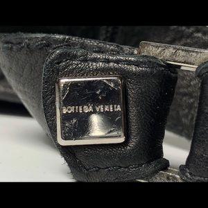 Bottega Veneta Accessories - Bottega Veneta Black Red Leather Stud Gloves Size7